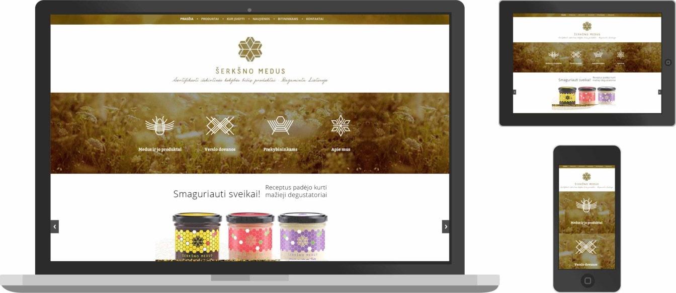 Web dizainas, šerkšno medus