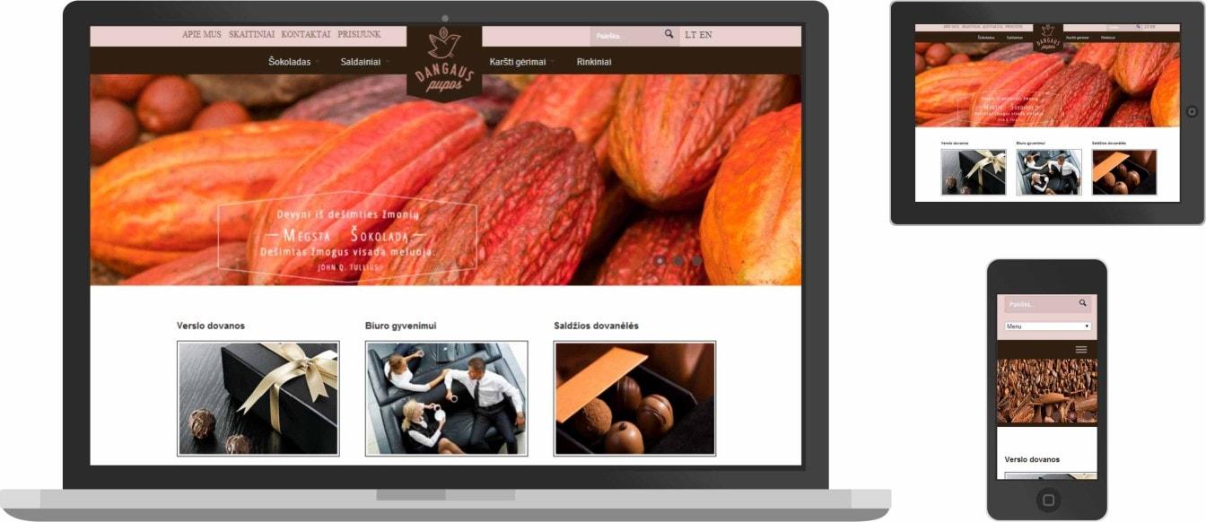 web dizainas, dangaus pupos