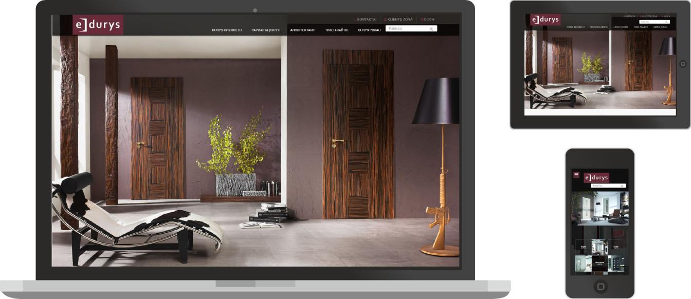 web dizainas, internetinių parduotuvių kūrimas, e- durys