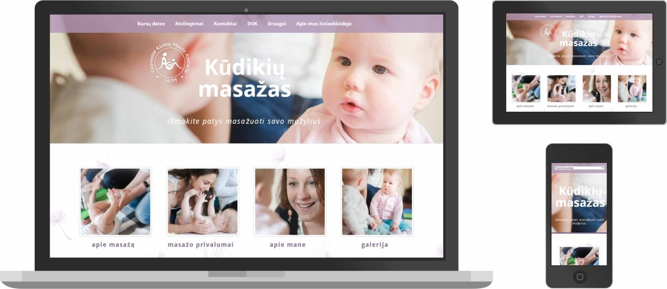web dizainas, kudikiu masazas
