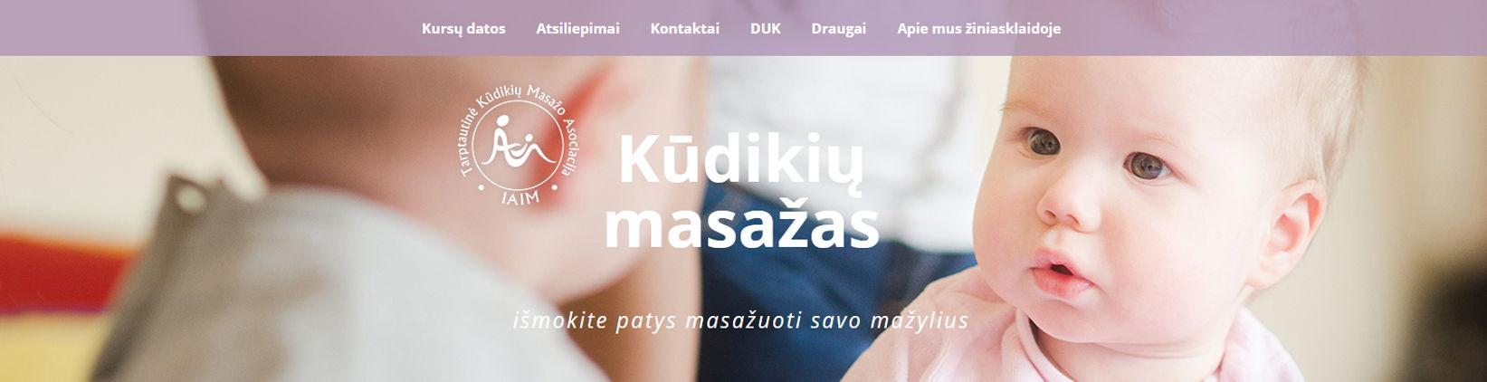 Internetiniu svetainiu kurimas, kudikiu-masazas.lt
