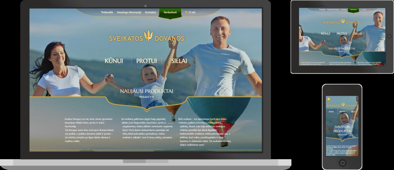 web dizainas, sveikatos dovanos