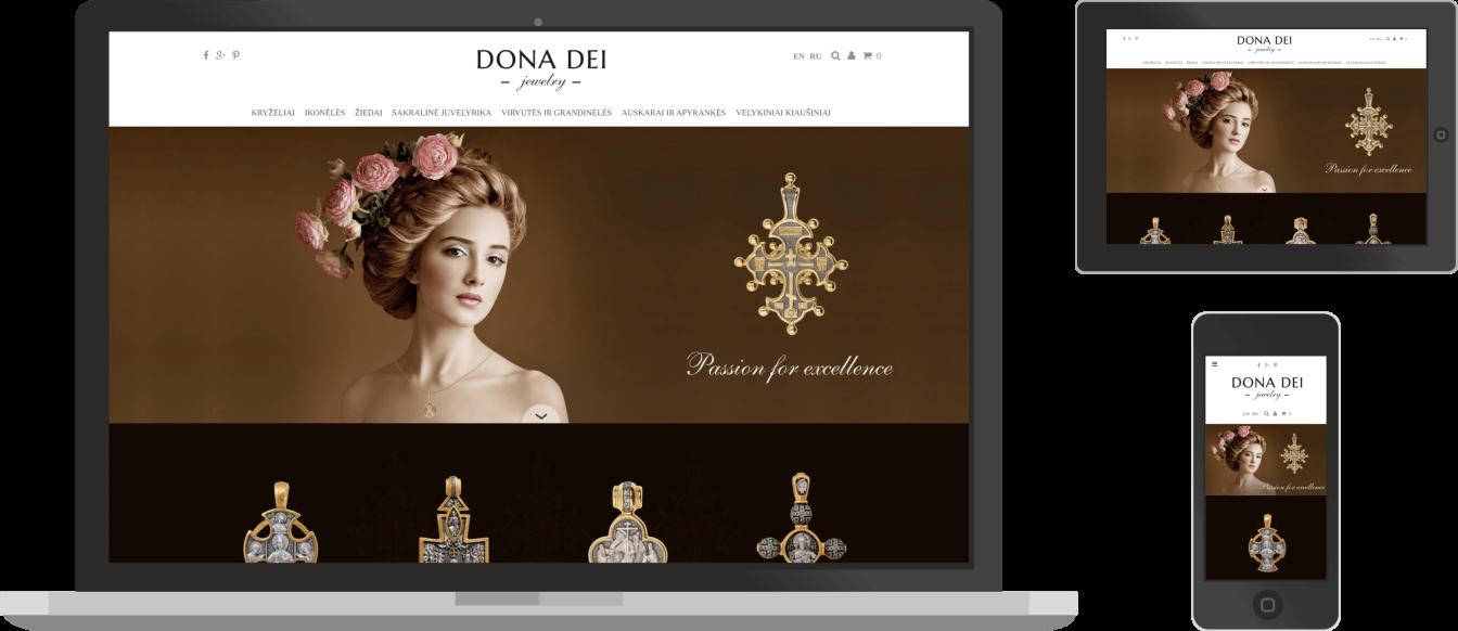 Dona Dei svetaine, pritaikyta ivairiems ekranams