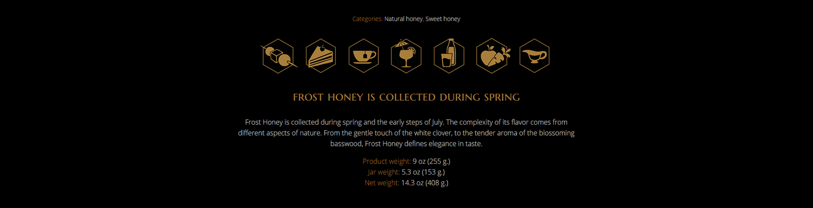 Frost Honey web dziainas