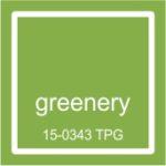 """2017 metu pantone spalva """"Greenery"""""""