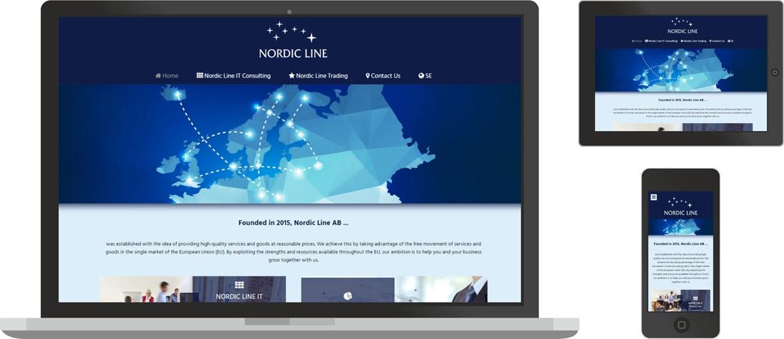 nordic line, internetinių svetainių kūrimas