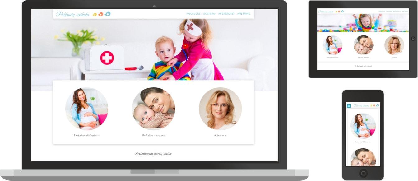 pabiručių sveikata, internetinių svetainių kūrimas