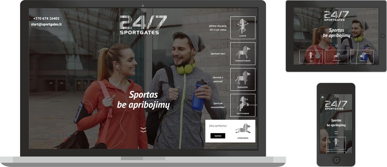 Sportgates - web dizainas
