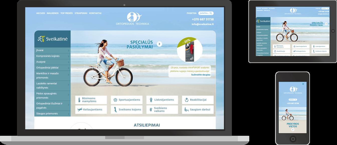 www.sveikatine.lt el. parduotuves dizainas, kuri sukure foxiAD
