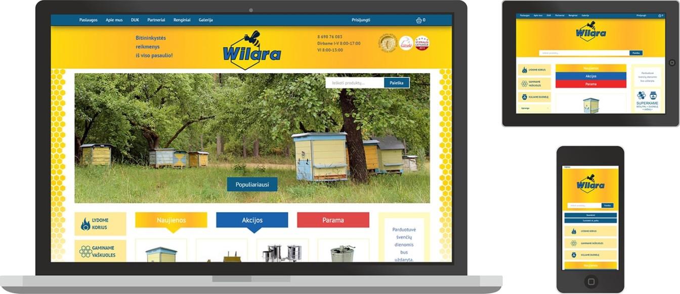 Wilara.lt - web dizainas skirtingu dydziu monitoriuose